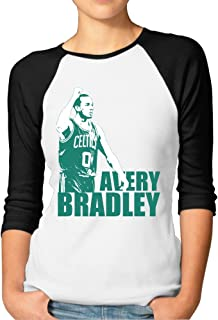 ^GinaR^ Women Middle Sleeve Avery Bradley Cool Bottoming Shirt