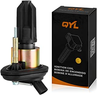 QYL 1Pcs Ignition Coil Pack UF303 E255 Replacement for Chevy Colorado Canyon 2004-2006 Trailblazer Envoy 2002-2005 Compatible with Isuzu Ascender 2003-2008 I-290 I-370 2007-2008 I-280 I-350 2006
