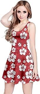 Womens Summer Hawaii Beach Surf Tropical Fruits Toucan Pineapple Banana Strawberry Sleeveless Dress, XS-5XL
