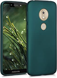 kwmobile TPU Silicone Case for Motorola Moto G7 Play (US-Version) - Soft Flexible Shock Absorbent Protective Phone Cover - Metallic Teal