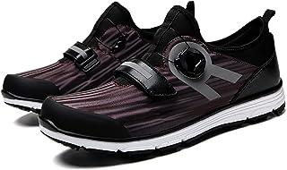 Golfschoenen voor waterdichte heren,Golf Shoes Men met BOA-vetersysteem Outdoor antislip Ademende slijtvaste spijkervrije ...