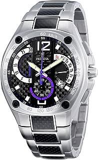 F6795/4 - Reloj cronógrafo de cuarzo para hombre con correa de acero inoxidable, color plateado