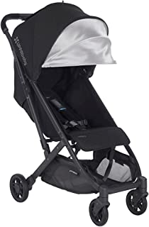 2018 UPPAbaby MINU Stroller - Jake (Black Melange/Carbon/Black Leather)