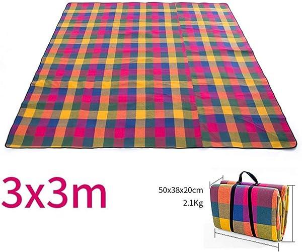 LXD Couverture de pique-nique extérieure de grande surface imperméable à l'eau portative épaisse de camping portatif d'enfants de prougeection,300  300cm