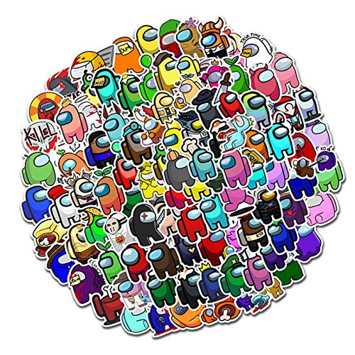 Kapoki Among Us Stickers, 100 Pack Vinyl Waterproof Stickers For Laptop,Bumper,Water Bottles,Computer,Phone,Hard Hat - Popular Game Sticker Decals - Car Stickers And Decals, Each 4-6cm