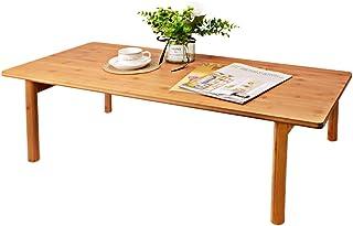 机 テーブル 折りたたみ ローテーブル 和風 ダイニング/リビングテーブル/センターテーブル 幅100×奥行45×高さ32cm ちゃぶ台 ナチュラル・竹製
