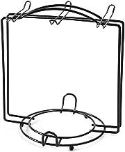 Displaystandaard voor theekopjes, antiroestbekershouder Roestvrijstalen droogrek voor kopjes Schotels 6 haken