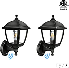 FUDESY 2-Pack Outdoor Wall Lights with Dusk to Dawn Sensor,12W Plastic Corded-Electric Exterior Light Fixtures Include Edison Bulbs for Porch,Garden,FDS416EPPSB2