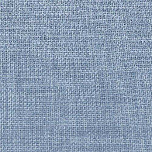I Want Fabric Morbido tessuto effetto lino in tinta unita da usare per tende e come rivestimento per cuscini e divani  Denim Blue