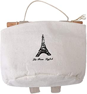 Wall Door Hanging Storage Bag Closet Hanging Bag with Rope Wooden Bar High Quality