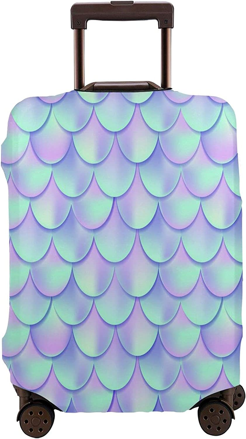 Feim-Ao Low price Travel Luggage Cover Purple Max 52% OFF Mermaid Skin Washable Suitca