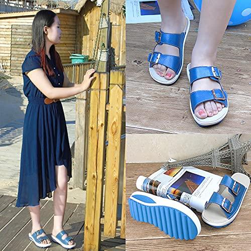 ypyrhh Sandalias con Plataforma Plana Hombre,Zapato Casual, Sandalias para Mujer Muffin-Beige_41,Hombre Chanclas Suela