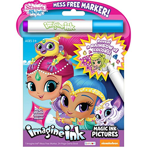 Bendon 41649 Shimmer and Shine Imagine Ink Magic Ink Pictures,Multi Color
