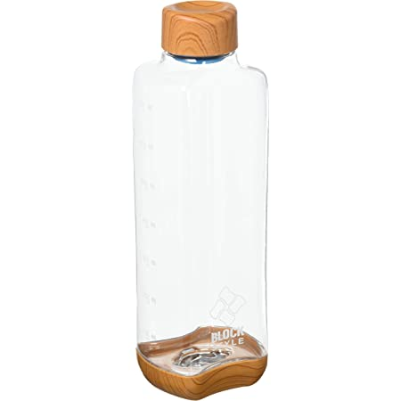パール金属(PEARL METAL) マグボトル ウッド調×クリア 700ml プラスチックアクアボトル ブロックスタイル HB-4855