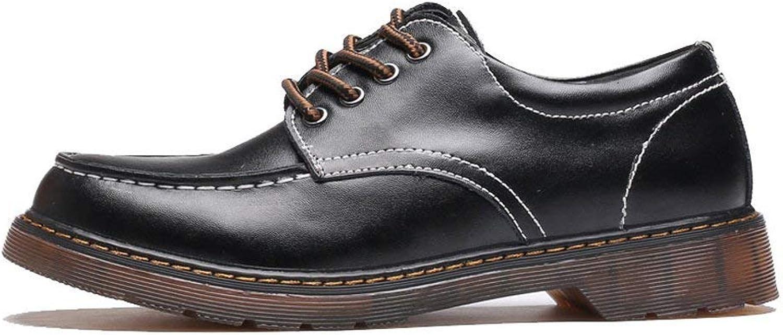 Fuxitoggo 2018 Men's shoes in Genuine Leather Lece up Outsole Oxford's Low Top Ankle Boots for Men (color  Black, Size  38 EU) (color   Black, Size   47 EU)