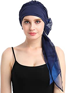 Chemo Headwear Turbans For Women Long Hair Head Scarf Headwraps Cancer Hats