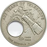 Power Coin Hubble Telescopio 400th Anniversary Telescope Invention Moneta Argento 5$ Palau 2008
