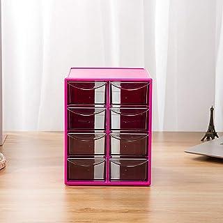 HBHHB Bureau Meuble De Rangement Plastique avec 8 Compartiments 4 Couches Casier De Rangement Bloc Tiroir Convient pour Le...