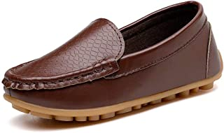 1b653f68bf2 konhill Casual Loafers Shoes Boys Girls Plush Moccasin Slip on Slippers Boat-Dress  Shoes
