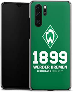 DeinDesign Hard Case kompatibel mit Huawei P30 Pro Schutzhülle transparent Smartphone Backcover Statement SV Werder Bremen Offizielles Lizenzprodukt
