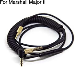 FAAEAL Replacement Audio Cable for Marshall Major II 2 Monitor Headphone Cord with Remote Microphone Volume Control for iPhone Samsung