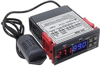 KETOTEK Temperatuurregelaar Vochtigheidsregelaar Temperatuur Vochtigheid Schakelaar 220V 2 relais Automatisch Koeling Verw...