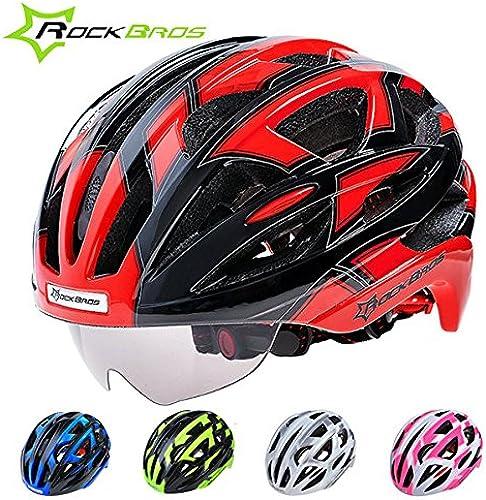 Bazaar Rockbros Rockbros vélo Casque de vélo avec des lunettes 32 grilles d'aération avec des lentilles  qualité authentique