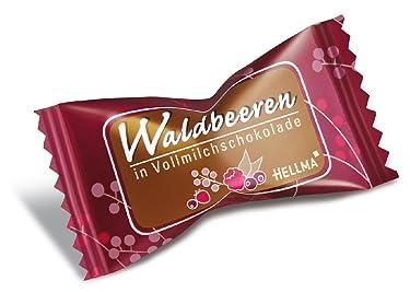 Hellma Schokolade mit Fruchfüllung Waldbeere in Vollmilchschokolade VE=400 Stück