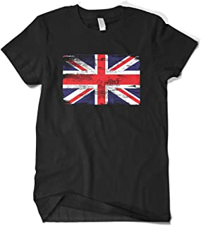Men's Faded Great Britain England Flag T-Shirt