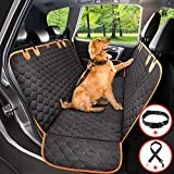 Dog Car Seat Cover Protector Thicken, Waterproof Nonslip Pet Seat Cover, Hammock Heavy Duty Scratch-Proof Back Seat Cover Mattress for Dogs Fits Most Cars Trucks SUVs (Seat Belt& Dog Collar Included)