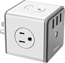 Huntkey Surge Protector USB Wall Adapter with 4 AC Outlets 3 USB Charging Ports (SMC007)