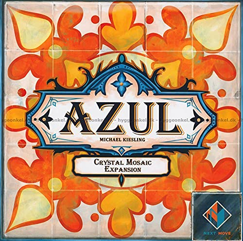 Azul Crystal Mosaic Board Game Expansion   Strategy Game   Tile Placement Game   Family Board Game for Adults and Kids   Ages 8+   2-4 Players   Avg. Playtime 30-45 Minutes   Made by Next Move Games