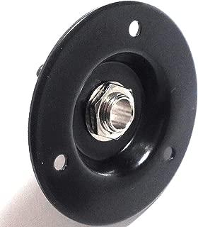 Black Speaker Amp Jack Plate, 2 inch Round Metal with 1/4 inch Switchcraft #11 Jack