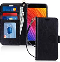FYY Case for iPhone 8 Plus/iPhone 7 Plus,[Kickstand Feature] Luxury PU Leather Wallet Case Flip Folio Cover with [Card Slots] [Wrist Strap] for Apple iPhone 8 Plus 2017/7 Plus 2016 (5.5