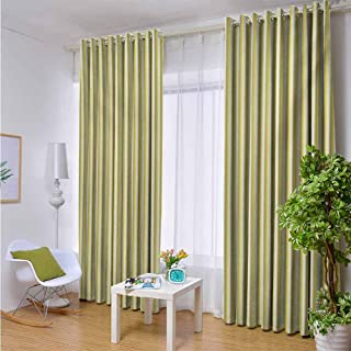 Outdoor- Free Standing Outdoor Privacy Curtain Grey and Yellow,Circus Tent Inspired Vintage Retro Stripes Modern Image,Pale Yellow Beige and White,W72