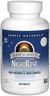 Source Naturals Sleep Science NightRest Multi-Nutrient & Herb Complex With Melatonin, GABA, Passion Flower, Chamomile, Lem...
