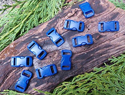MD FlashLights Etc Ltd 10 x 10 mm 3/8 Bleu foncé Profilé Quick Release Paracord Bracelet de Survie Boucles