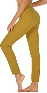 Women's Skinny Ankle Pants - Daily Pull-On Stretch Knit Leggings with Elastic Waistband
