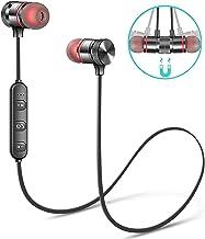 MUGAMO Wireless Sports Bluetooth Magnet Earphone Hand-Free Headphone for All Smartphone (Black)
