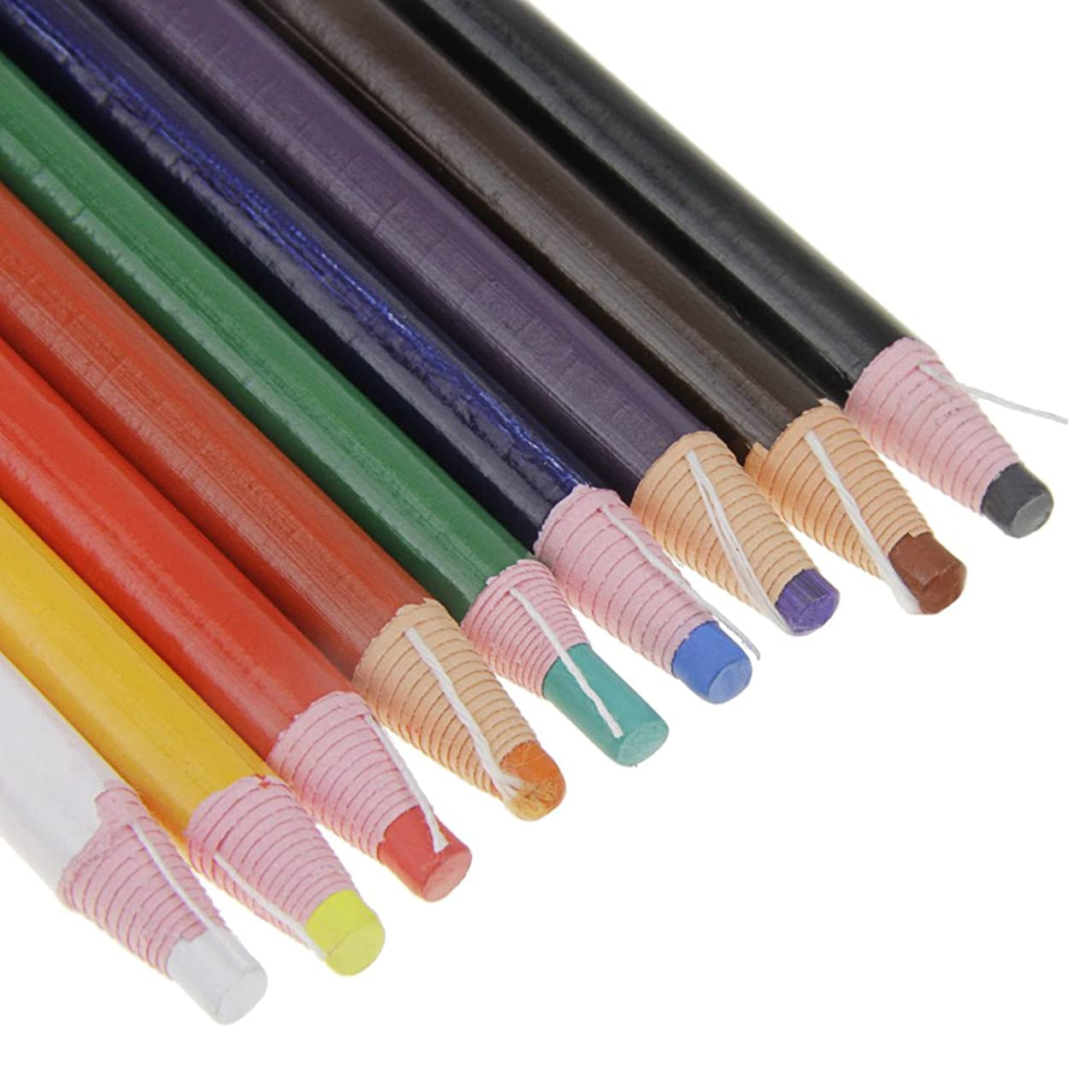Peel-Off China Markers Grease Wax Pencil for Glass Cellophane Fabric,Metal,Kids Non?Toxic?Art Crayons Marking Pencils?Paper-wrapped 9 Pcs Assorted Colors Painting Pen for Coloring Drawing Marking