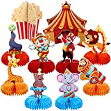 Outus 10 Pieces Circus Carnival Animals Honeycomb Centerpieces CarnivalChristmas Party Table Topper Circus Carnival PartyFavors for Birthday Baby Shower Circus Theme Party Decorations