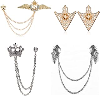 PPX 4 pezzi maglioni clip collo collo cardigan sciarpe cardigan clip metallo clip maglione maglioni clip metallo argento g...