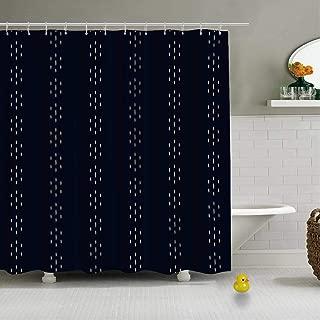 C COABALLA Running Stitch Flowers Brocade Fabric Pattern Vector Creative Shower Curtain for Bathroom,79''L x 72''W