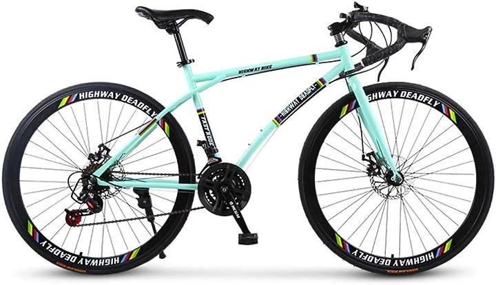 Bici da strada, 24 velocità 26 bici pollici, doppio disco freno, telaio in carbonio - highway deadfly 645-860-166