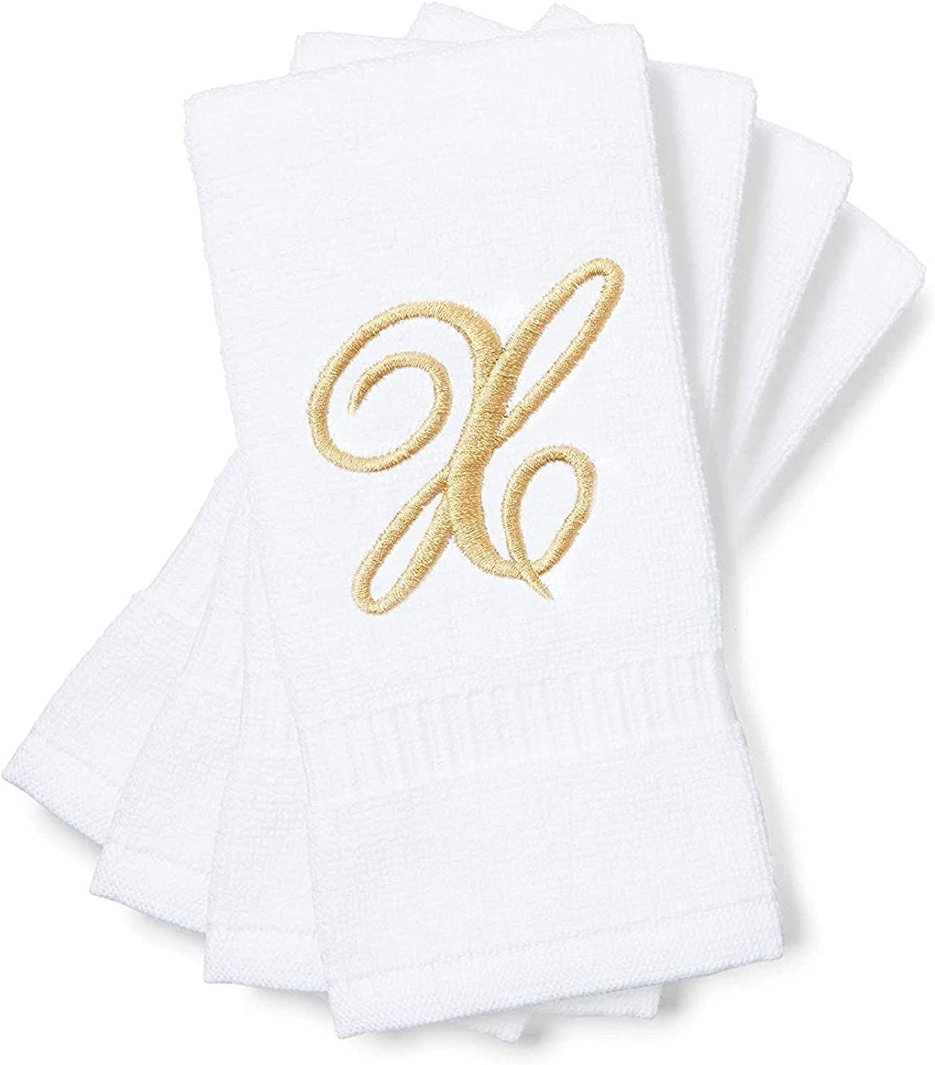 Monogrammed Trust Fingertip Towels Letter X Gift Embroidered New Shipping Free 18 11 x