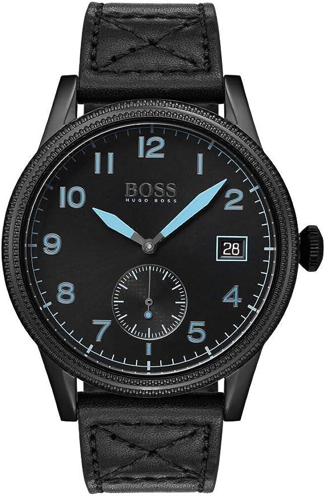 Hugo boss orologio uomo con cinturino in pelle 1513672