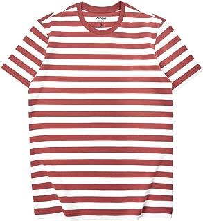 mens orange and white striped t shirt