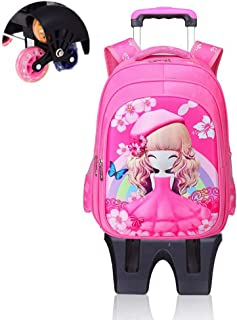 Children's Backpack Wear-Resisting And Labor-Saving Pull Rod School Bag Removable Pulley Staircase School Bag