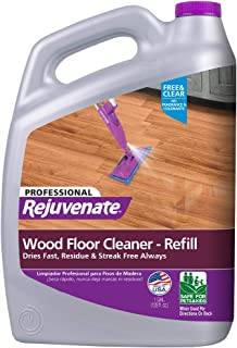 Rejuvenate RJ128FCPRO Hardwood Floor Cleaner, 1 Gallon, clear, 128 Fl Oz
