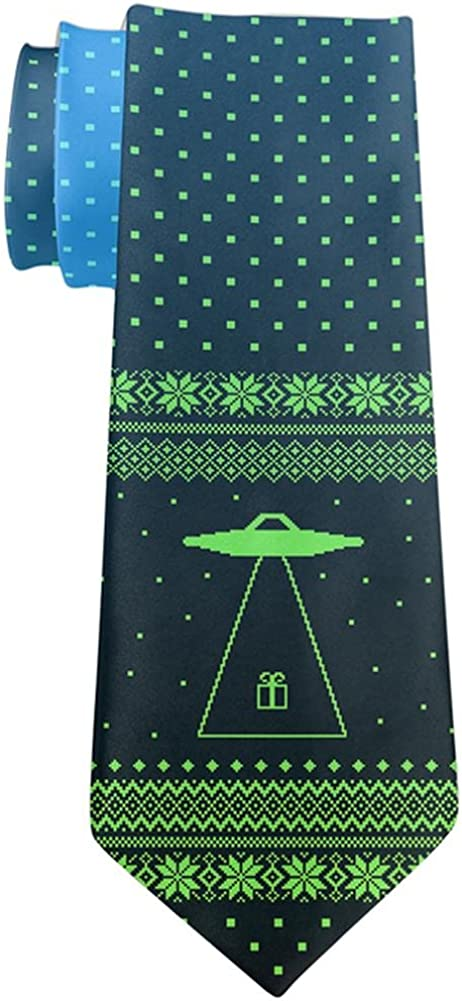 Ugly Christmas Sweater Alien Beam All Over Neck Tie